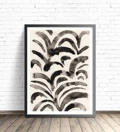 Black Ink Art Print by DreamyMeisme on Etsy Black Ink Art, Black And White Wall Art, Black And White Painting, Black And White Abstract, Modern Art Prints, Artwork Prints, Painting Prints, Ink Painting, Large Abstract Wall Art
