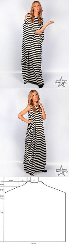 Original striped dress (pattern) / Simple pattern /