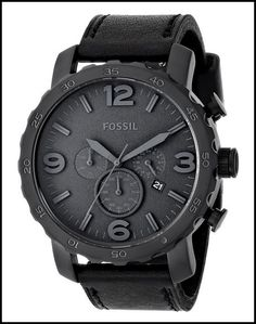 FOSSIL MEN'S JR1354 NATE BLACK WATCH