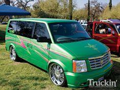 Green astro Chevy Astro Van, Gmc Safari, Vanz, Mini Trucks, Van Camping, Custom Vans, Custom Trucks, Pickup Trucks, Cadillac