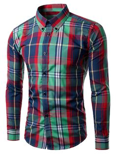 59d2a8d1372  13.27 Long Sleeve Plaid Button-Down Shirt Produtividade
