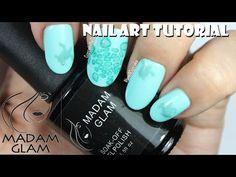 Madam Glam Nail Art - Subtle Sea Turtle Nails - YouTube