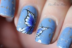 Butterfly mani
