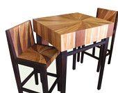 Mixed Wood Mango Red  Monkey Wood Bar Cafe Set