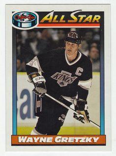 Wayne Gretzky # 258 - 1991-92 O-Pee-Chee Hockey Hockey Cards, Baseball Cards, Ice Hockey Players, Wayne Gretzky, National Hockey League, Trading Cards, Nhl, All Star, Stars