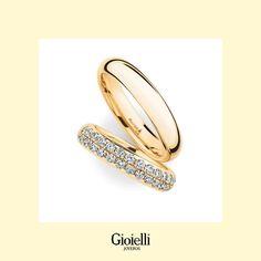 Argollas de matrimonio media caña con circones Gemstone Rings, Wedding Rings, Gemstones, Jewelry, Wedding Ring Set, Gold Rings, Jewel Box, Wedding, Jewlery
