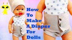How to make a Baby Doll Diaper  DIY Clothes Easy Tutorial For Girls