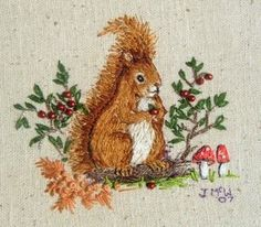 Image of Little Squirrel, Collecting Berries
