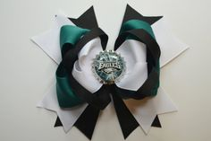 Philidelphia Eagles Inspired Bow by TwoFireflies on Etsy