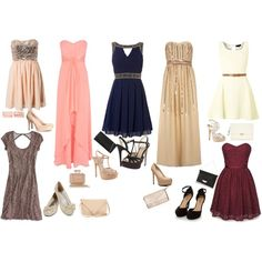 Dresses for Pear Body Shape by ladylikecharm on Polyvore featuring Dorothy Perkins, Coast, TFNC, Jack Wills, American Eagle Outfitters, Cutie, Jeane Blush, ALDO, H&M and Sole Society