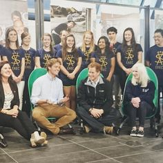 Prince Harry with members of the University of Canterbury's Student Volunteer Army, founded to help to initial recovery efforts and community projects in the aftermath of the Christchurch earthquakes. 5/12/2015
