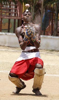 24 Awesome Photos Of Maasai Warriors Playing Cricket