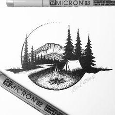 """63 gilla-markeringar, 5 kommentarer - Stefan Brock (@stefan_dt_brock) på Instagram: """"Friday sketch! Campfire catch. Habe heute ein neues Skizzenbuch in A6 begonnen. Entsprechend…"""""""