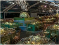 green blue reception Townsley Designs   Event Design and Production