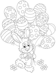 disegni di Pasqua da colorare: coniglietto
