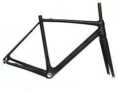Road Bike Frames - FR322 Cycling Carbon Matt Road Bike Frameset 56cm  FOR BSA  Bicycle frame Fork *** Read more at the image link.