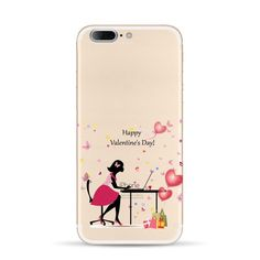 Mobile phone cases For Apple Iphone 7 case Silicon Cute lovely Girl Design painted Cases for iphone 7 back cover