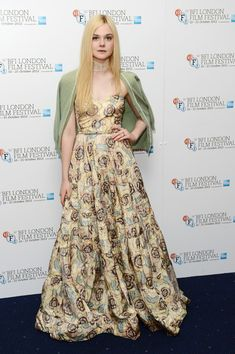 Elle Fanning's dress at the 56th BFI London Film Festival by Ginger And Rosa! #sophisticated