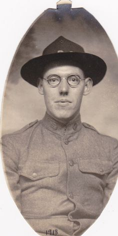 WWI Soldier in Glasses - 1918