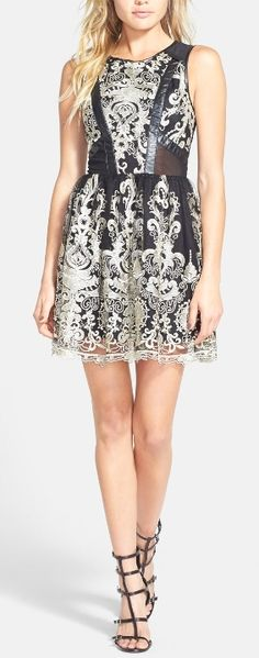 ASTR Embroidered Sleeveless Dress (Nordstrom Exclusive) available at Little Dresses, Pretty Dresses, Beautiful Dresses, Dress Me Up, Dress Skirt, Girly, Topshop, Looks Cool, Glamour