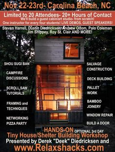 Hands On Tiny House Workshop w/ Deek: Kure Beach NC Photo  ~Want daddy to go!~  ☺M