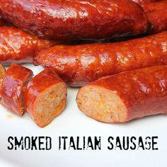 Smoked Italian Sausage using store bought sausage