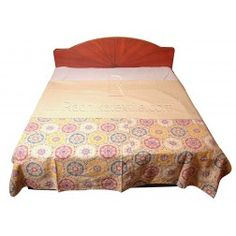 Kantha Handmade stitched Vintage Look Patterns Bed Coverlet / Bedspreads http://radhikatextile.com/home-furnishing/bed-covers/old-kantha-vintage-bed-covers.html?p=2