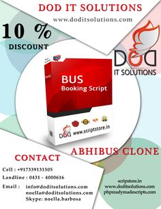 Winter offers ============= Flat 10% discount on Abhibus Clone Scripts both PHP and Asp.net.   Our Modules ============ •User •Guest User •Wallet User •Agent •Admin •Super admin •Affiliate User  Check our product at below given links: http://scriptstore.in/product/abhibus-clone/ http://scriptstore.in/product/asp-net-abhibus-clone/ http://www.doditsolutions.com/abhibus-clone/ http://phpreadymadescripts.com/abhibus-clone-script.html http://phpreadymadescripts.com/asp-net-abhibus