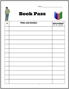 Here's a FREE Book Pass Handout from Teaching ELA with Joy