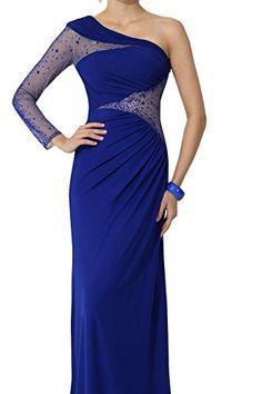 b3a1e7a974a71 Dora Bridal Women´s One Shoulder Evening Party Formal Dress Size 20W US Royal  Blue