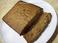 Acorn Flour Banana Bread. Yes we can eat acorns! Soak three times and rinse between, removes the bitter tannen. the dry and grind!
