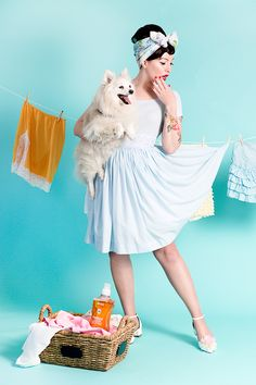 How to Care For Vintage Clothing - pinup style shoot with Keiko Lynn for method