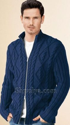 VK is the largest European social network with more than 100 million active users. Denim Button Up, Button Up Shirts, Ugly Christmas Sweater, Knit Cardigan, Knitting Patterns, Bomber Jacket, One Piece, Mens Fashion, Pullover