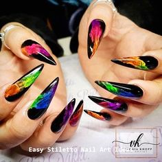 Whether you smoke or not? You must have seen the effect of smoke coming out of your mouth. Today let's see what the smoke nail designs look like. As you can see, smork nails are beautiful and attractive. Look at our collection of 28 smoke nail art de Rainbow Nails, Neon Nails, Swag Nails, Neon Nail Art, Fancy Nail Art, Grunge Nails, Best Acrylic Nails, Acrylic Nail Designs, Nail Art Designs