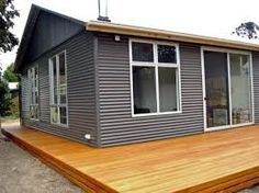 colourbond shed 3 House Cladding, House Siding, Shed Homes, Cabin Homes, Clad Home, External Cladding, Tin House, Austin Homes, Steel House