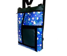 Convertible Backpack. Green and blue backpak. by Artusual on Etsy