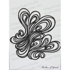 Handmade papercut ACEO 'Loopy' by ePaperCuts