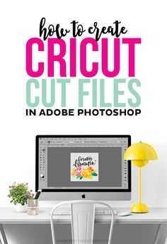 With just a little design experience, you can create Cricut Cut files in Adobe Photoshop with this tutorial! Use your own graphics or purchased designs for beautiful print and cut illustrations!