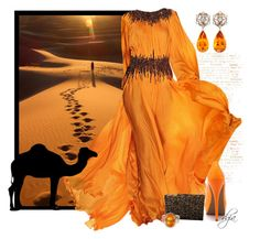 """Sunset"" by dgia ❤ liked on Polyvore featuring Simon Teakle, National Geographic Home, Kate Spade and Veda Soul"