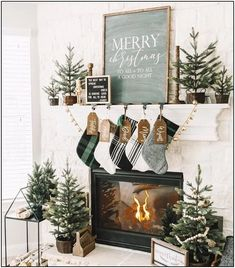 132 winter wonderland ideas for best mantel design page 36 | Homydepot.com