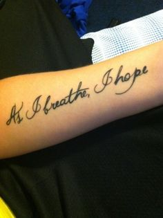 As I breathe, I hope
