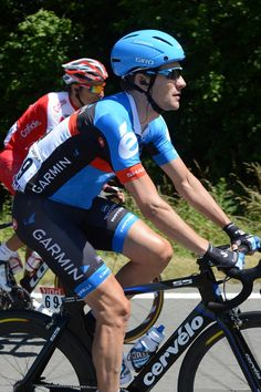 Tour de France - Stage 2  Dave Zabriskie sports Garmin's new helmet and sponsorship kit on stage 2. Photo: Graham Watson   www.grahamwatson.com