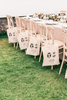 Wedding favor goodie bags: http://www.stylemepretty.com/destination-weddings/2017/03/20/a-breathtaking-cliff-ceremony-overlooking-the-aegean-sea/ Photography: Les Anagnou - http://lesanagnou.com/