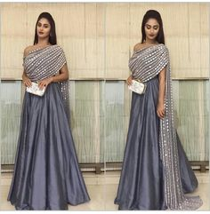 Indian bridal dupatta draping 25 ideas for 2019 Party Wear Indian Dresses, Indian Fashion Dresses, Designer Party Wear Dresses, Indian Gowns Dresses, Dress Indian Style, Indian Designer Outfits, Indian Wedding Outfits, Indian Outfits, Fashion Outfits