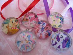 My Little Pony Friendship is Magic Premium 1 inch Glass Pendant Necklace - choose Twilight Sparkle, Princess Celestia, Rarity, or Applejack