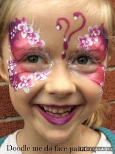 Butterfly by doodle me do face painting