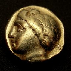 YOUNG PAN.Ancient Greek Gold Coin. IONIA.PHOKAIA.1/6 stater.Hecte.ELECTRUM
