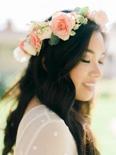 Rose flower crown: http://www.stylemepretty.com/little-black-book-blog/2015/03/23/whimsical-garden-inspired-bridal-shower/ | Photography: Honey Honey - http://www.hoooney.com/