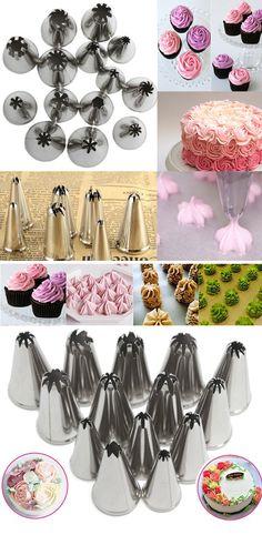 US$5.99 6Pcs DIY Baking Tools Russian Tulip Flower Cake Icing Piping Nozzles Decorating Tips