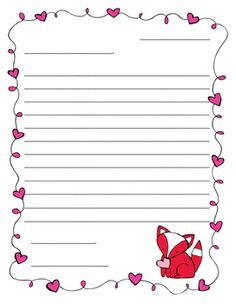 valentines day friendly letter template